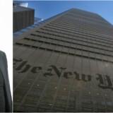 Mediernes flagskib, New York Times, har dannet skole for det identitetspolitiske »synd-for« debatstof, som nu rammer danske aviser, skriver Mikkel Andersson. Foto: Brendan McDermid/Reuters/Scanpix Ritzau
