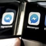 De amerikanske myndigheder kræver at kunne komme til at aflytte kommunikationen gennem Facebooks Messenger-app. Det nægter Facebook. Arkivfoto: Mads Claus Rasmussen, Scanpix