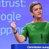 Konkurrencekommissær Margrethe Vestager og EU tildelte denne sommer Google en rekordstor bøde på 18 milliarder kroner.
