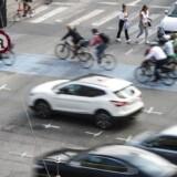 Trafik ved H.C. Andersens Boulevard i København.