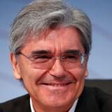 Siemens-chefen Joe Kaeser ses her på en pressekonference i München 2. august 2018, hvor han fremlagde en større omstrukturering, der skal ruste den tyske industrikoncern til disruption. »Mindre central styring og mere frihed til forretningsområder vil gøre os stærkere og mere fleksible,« sagde han på pressekonferencen.