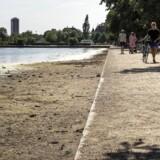 Tørke i Danmark. Vandmængden i Søerne i København er skrumpet betydeligt.