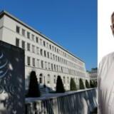 Asger Aamund mener, at internationale organisationer, som verdenshandelssammenslutningen WTO, svigter frihedselskende borgere, og ofte optræder handlingslammede over for islamiske stater. (Fotos: Denis Balibouse/Reuters/Ritzau Scanpix og Linda Kastrup.