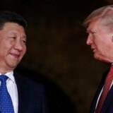 Arkivfoto. Donald Trump og den kinesiske præsident Xi Jinping.