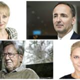 Kathrine Lilleør, Jim Hagemann Snabe, Per Stig Møller og Zenia Stampe. Foto: Ida Guldbæk Arentsen, NIELS AHLMANN OLESEN, Linda Kastrup.