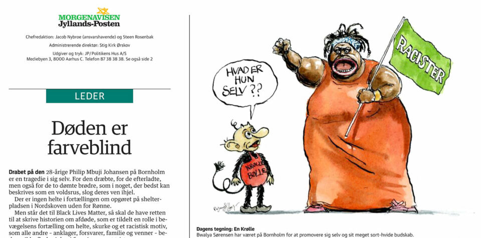 Jyllands-Posten: »Man skal kunne tegne alt. Også Bwalya...