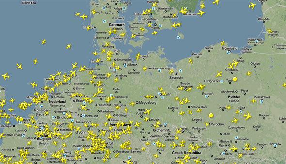 Her Er Alle Europas Fly I Luften