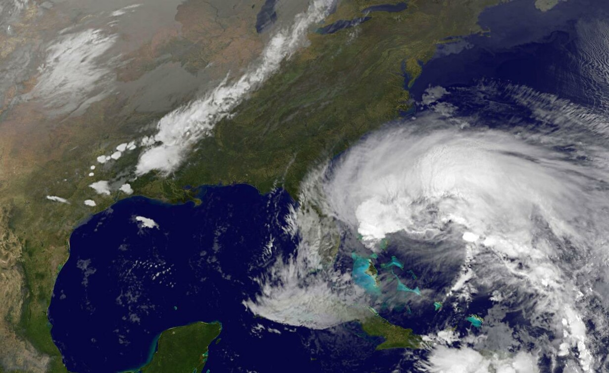 hurricane sandy atlantic ocean nasa - 1091×669