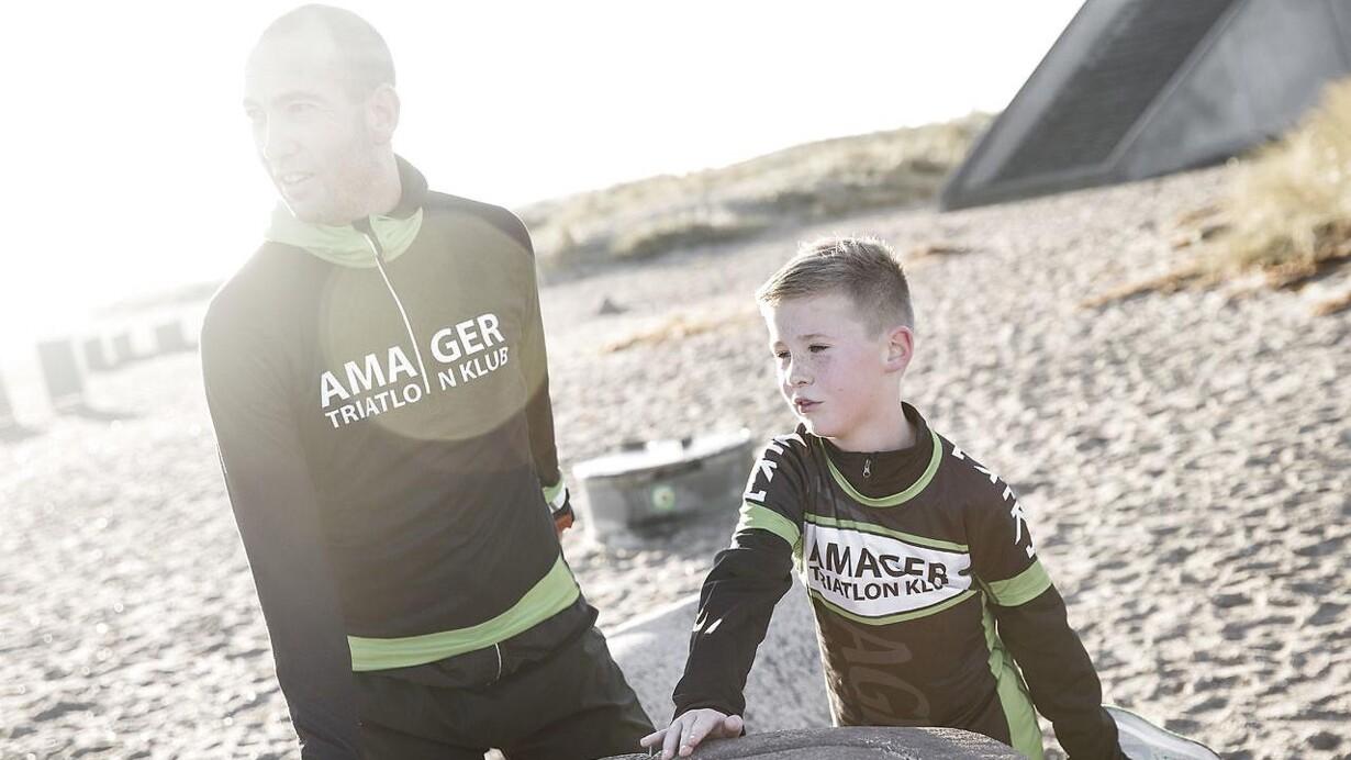 Far træner 20 timer om ugen: »Hvorfor er det så vigtigt med det triatlon?«