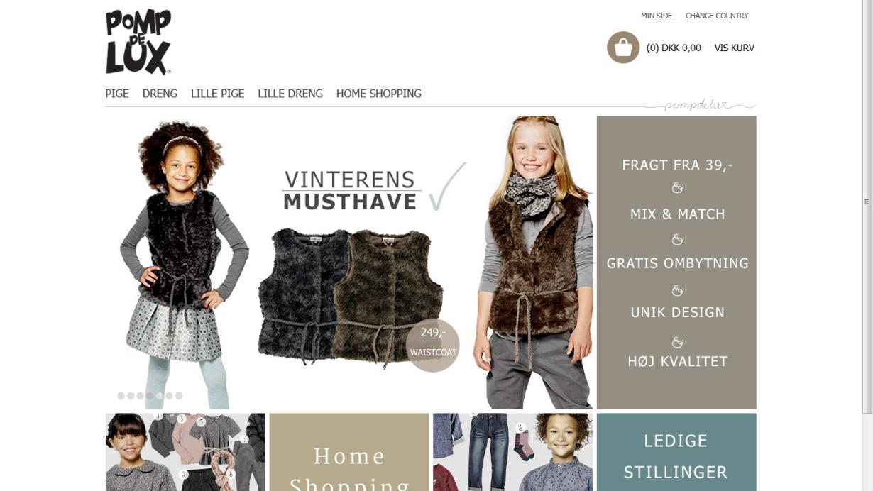 f9bbe4f64ea Den danske online-tøjforhandler Pompdelux er klar til at prøve kræfter med  det tyske marked og vil til at starte med se om den nye efterårs- og ...