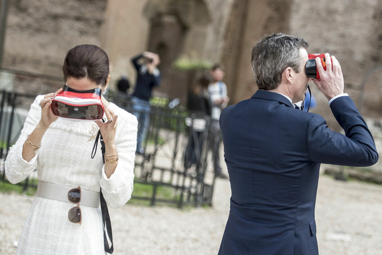 The Crown Prince Couple visit Rome - visit to Terme di Caracalla
