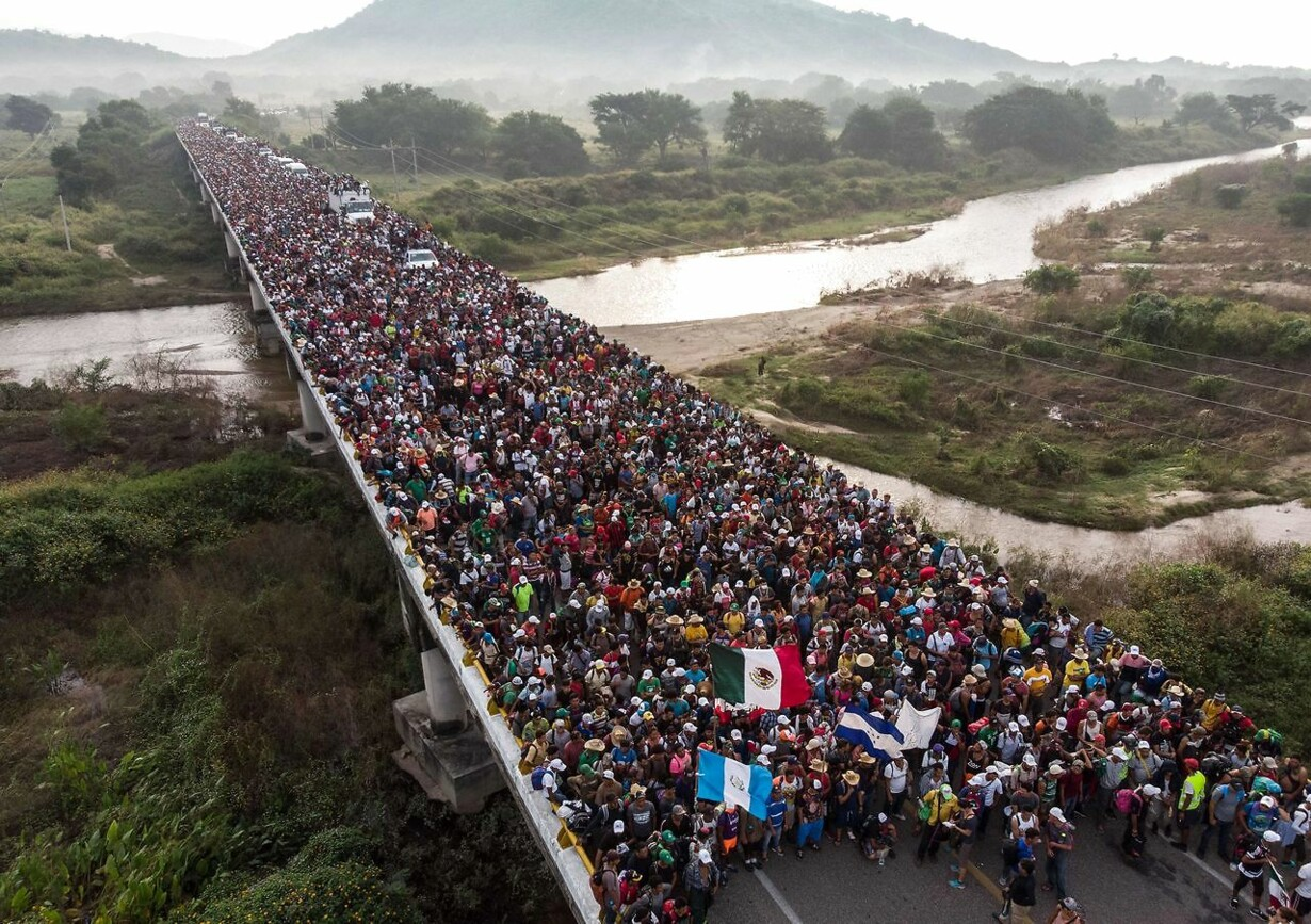 MEXICO-HONDURAS-US-MIGRATION-AFP PICTURES OF THE YEAR 2018