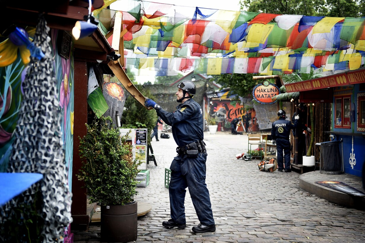 Politiet rydder Pusherstreet d