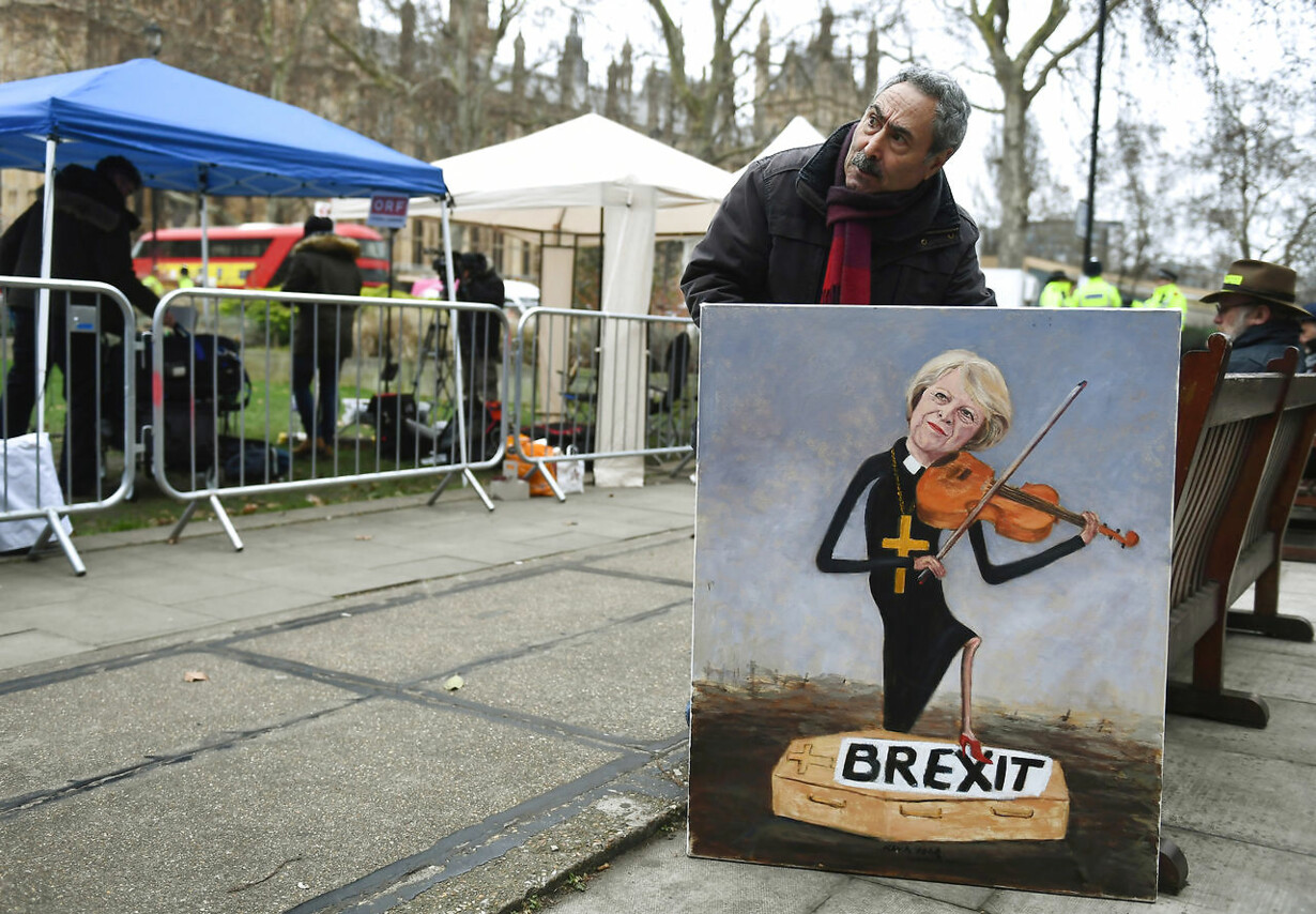 Aktivist med maleri