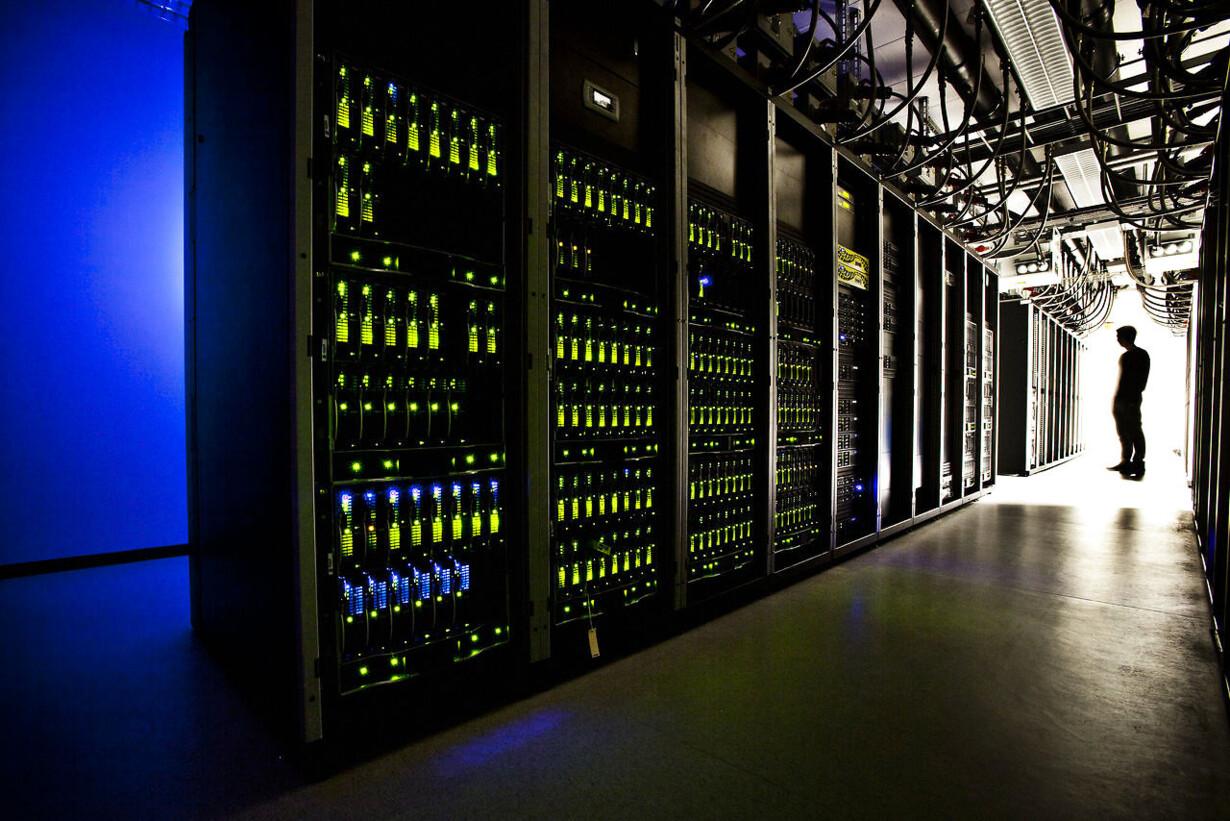 På TDC Hosting datacenter i Valby er der tre store nedkølede s