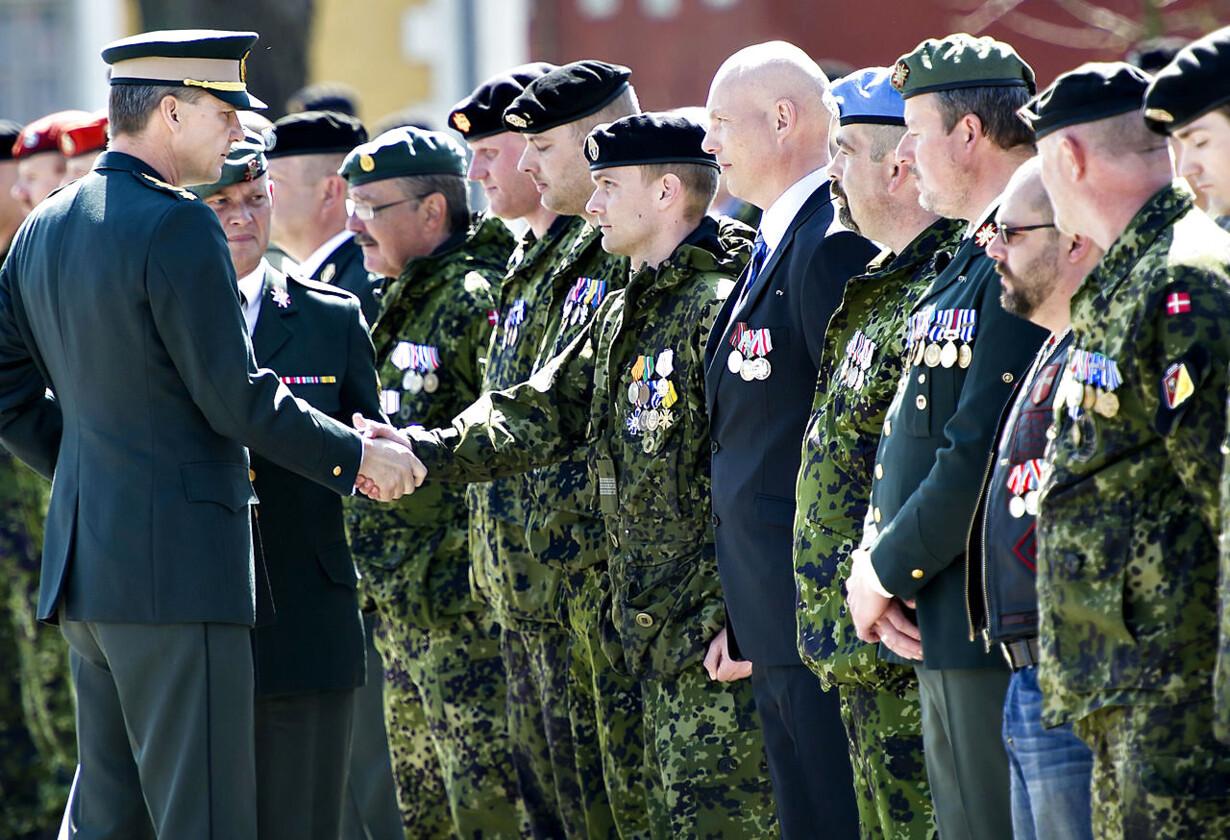 København: Medaljeoverrækkelse for psykisk sårede soldater So