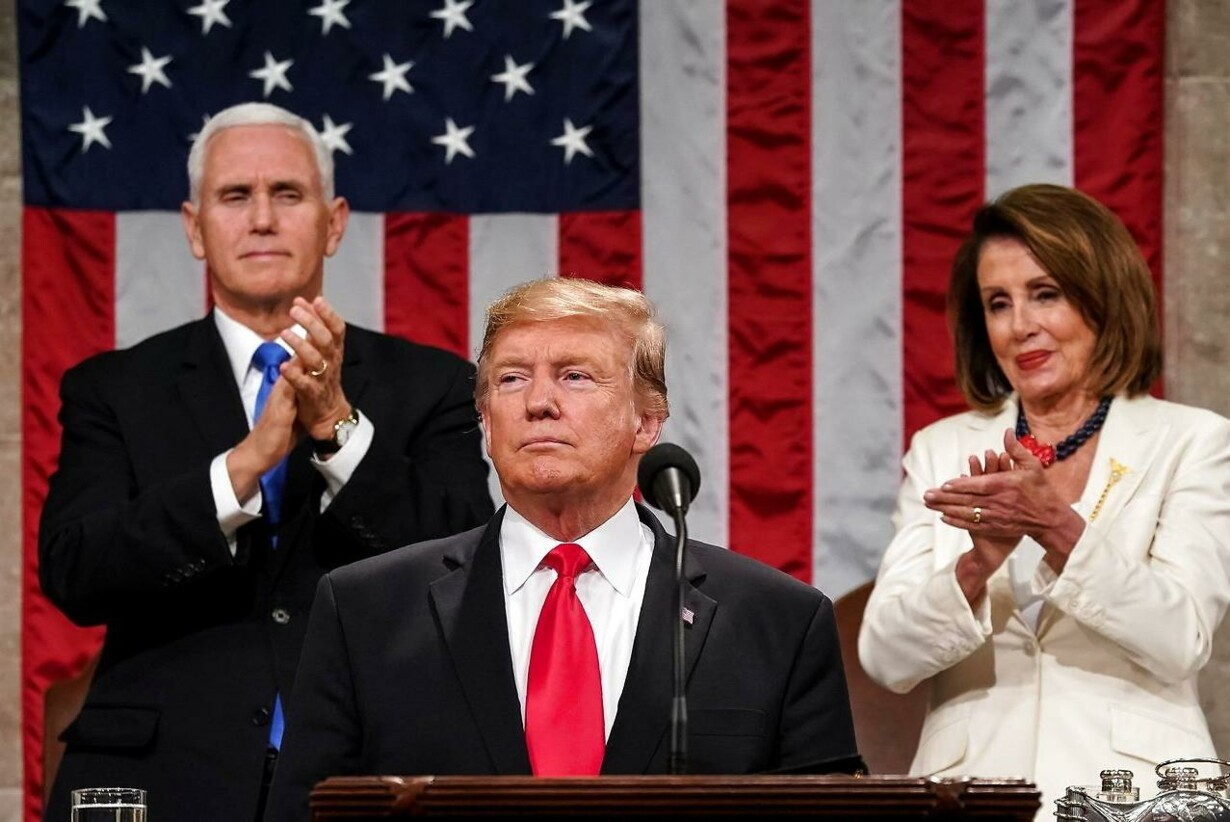 TOPSHOT-US-POLITICS-TRUMP-SOTU