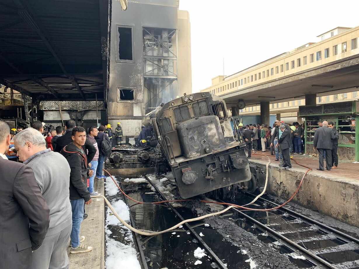 EGYPT ACCIDENTS TRAIN STATION FIRE