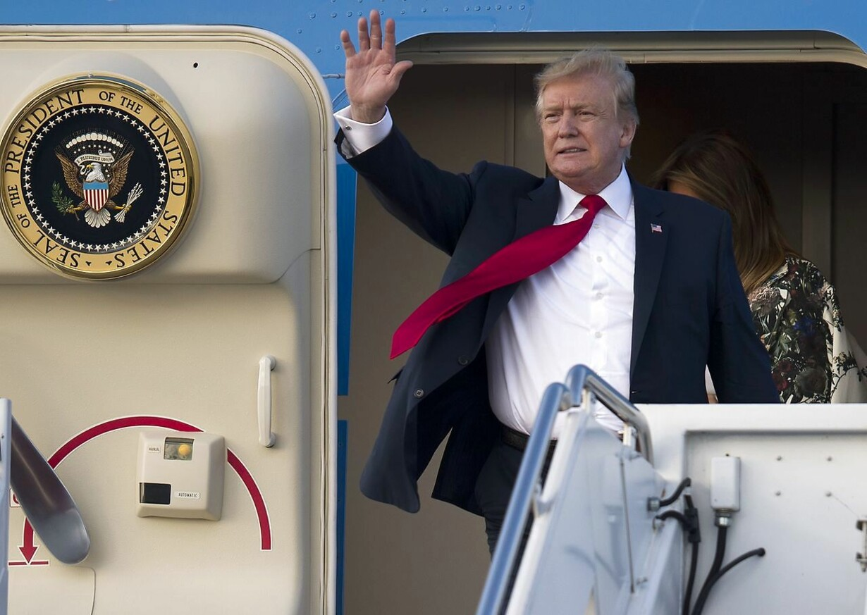 US-PRESIDENT-TRUMP-ARRIVES-IN-WEST-PALM-BEACH-FOR-EASTER-WEEKEND