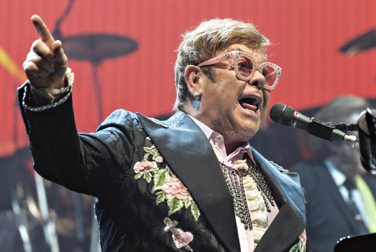 British rock legend Elton John in Royal Arena Copenhagen