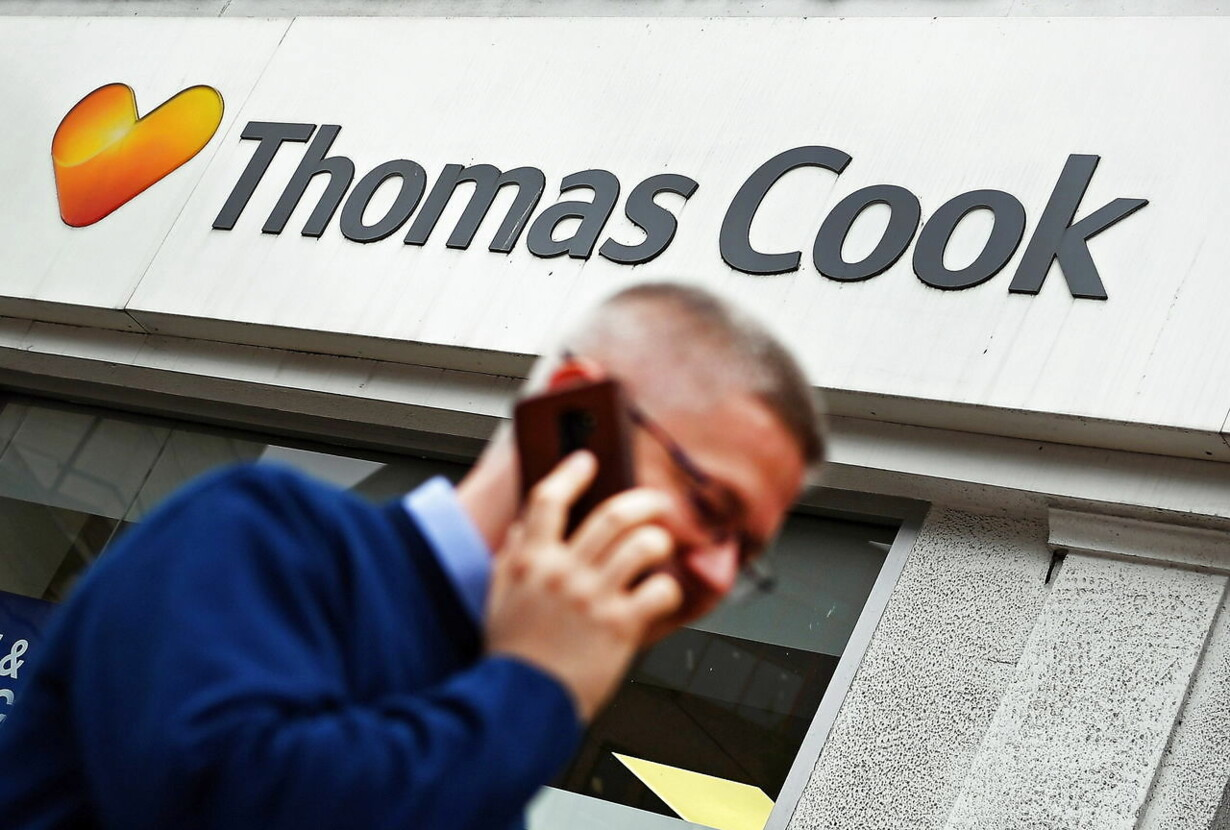 BRITAIN TRAVEL THOMAS COOK SHARES PLUNGE