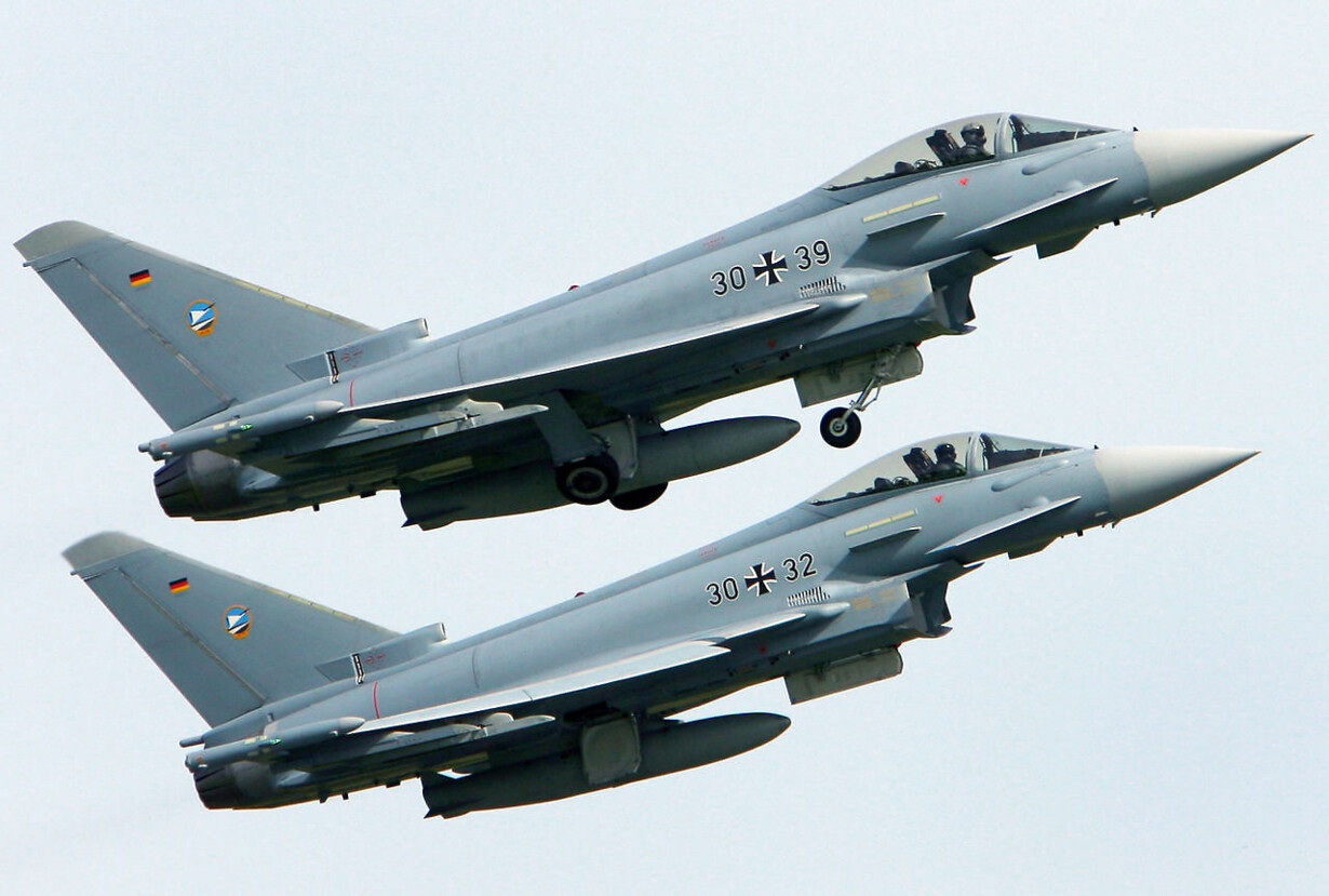 GERMANY-DEFENCE-AIR-FORCE-EUROFIGHTER-CRASH