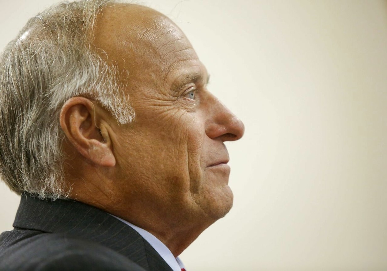 US-REPUBLICAN-REP.-STEVE-KING-HOLDS-TOWN-HALL-MEETING-IN-BOONE,