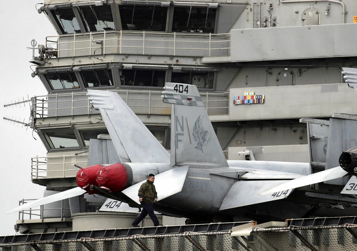 PHILIPPINES DEFENCE USS RONALD REAGAN AIRCRAFT CARRIER