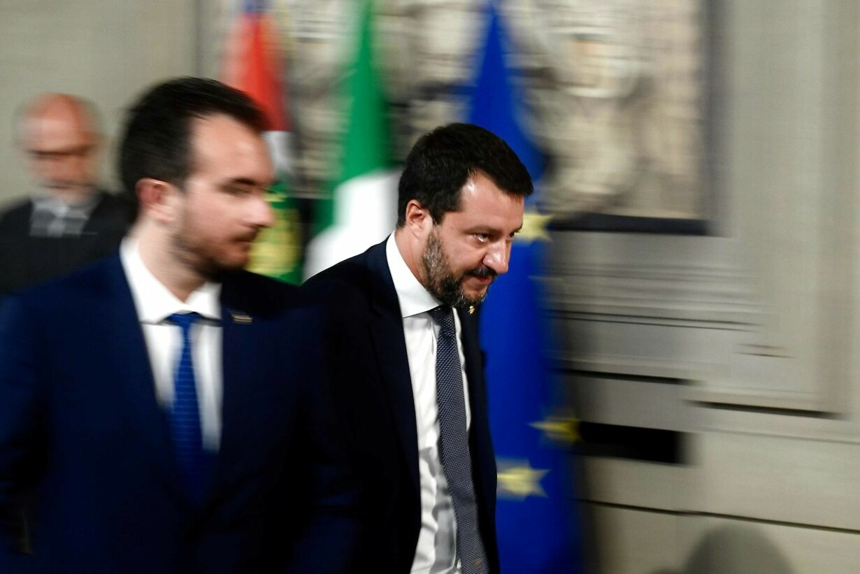 TOPSHOT-ITALY-POLITICS-GOVERNMENT-CRISIS