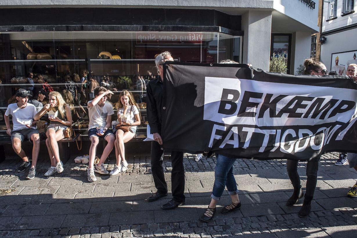 """""""Forsvar vores velfærd""""-demonstration."""