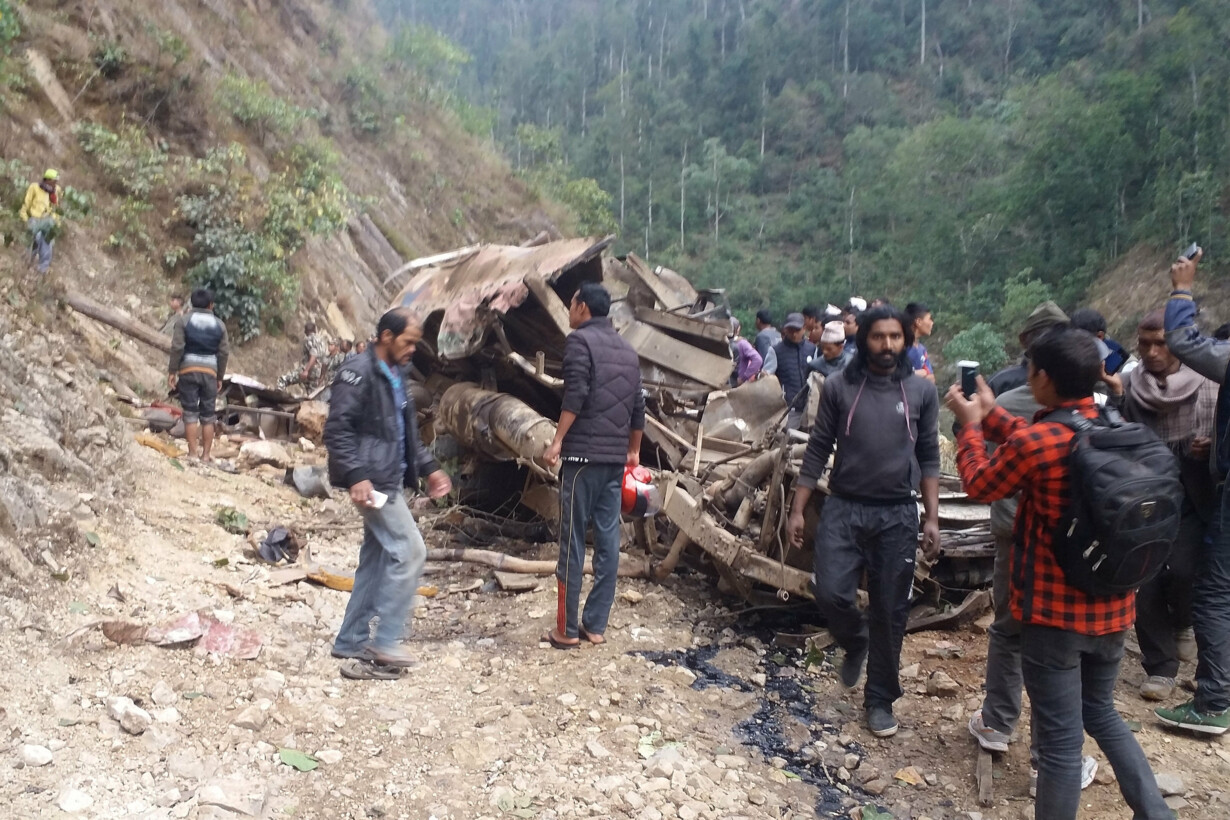 NEPAL-BUS-ACCIDENT - 201911280