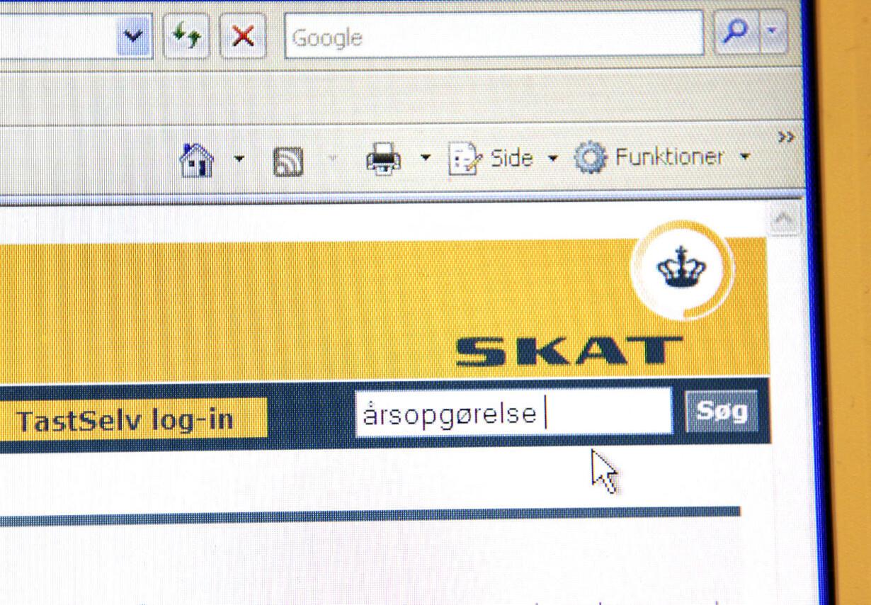 Danskere strømmer til Skats hjemmeside for at se årsopgørelse