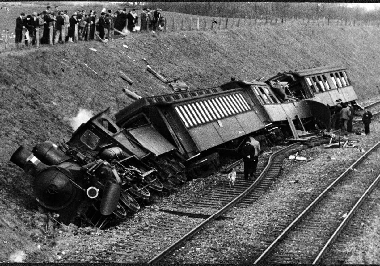 En stor jernbaneulykke ved Næstved kostede 3 dræbte og mange sårede