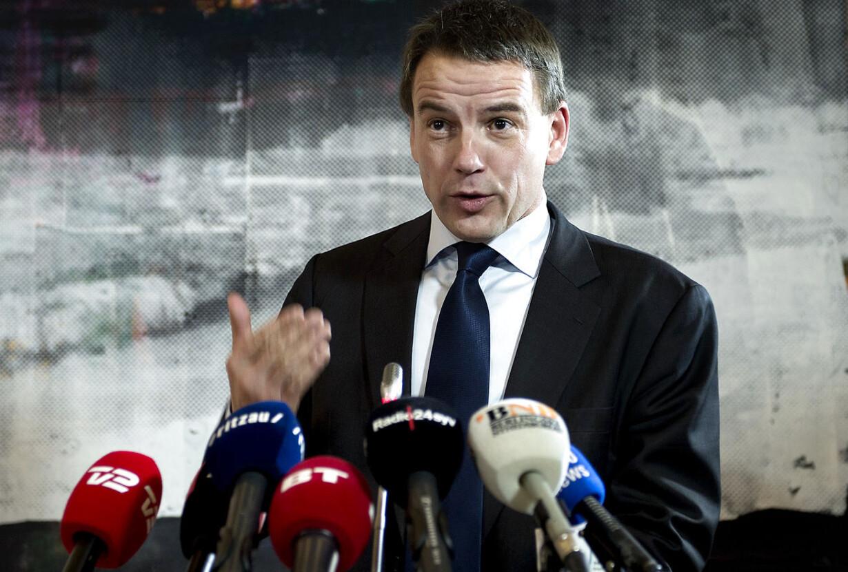 Christian Friis Bach pressemøde