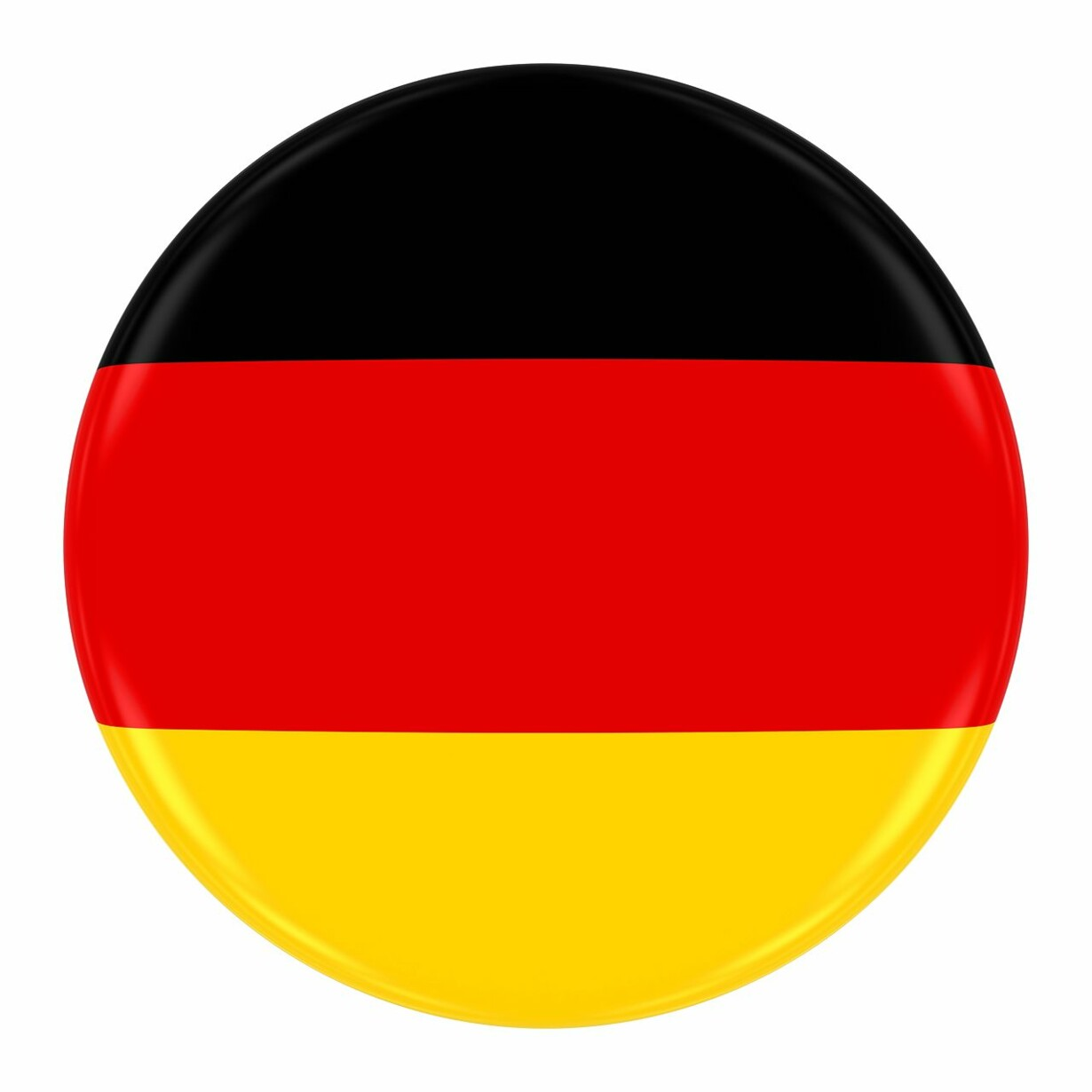 German Flag Badge - Flag of Germany Button Isolated on White