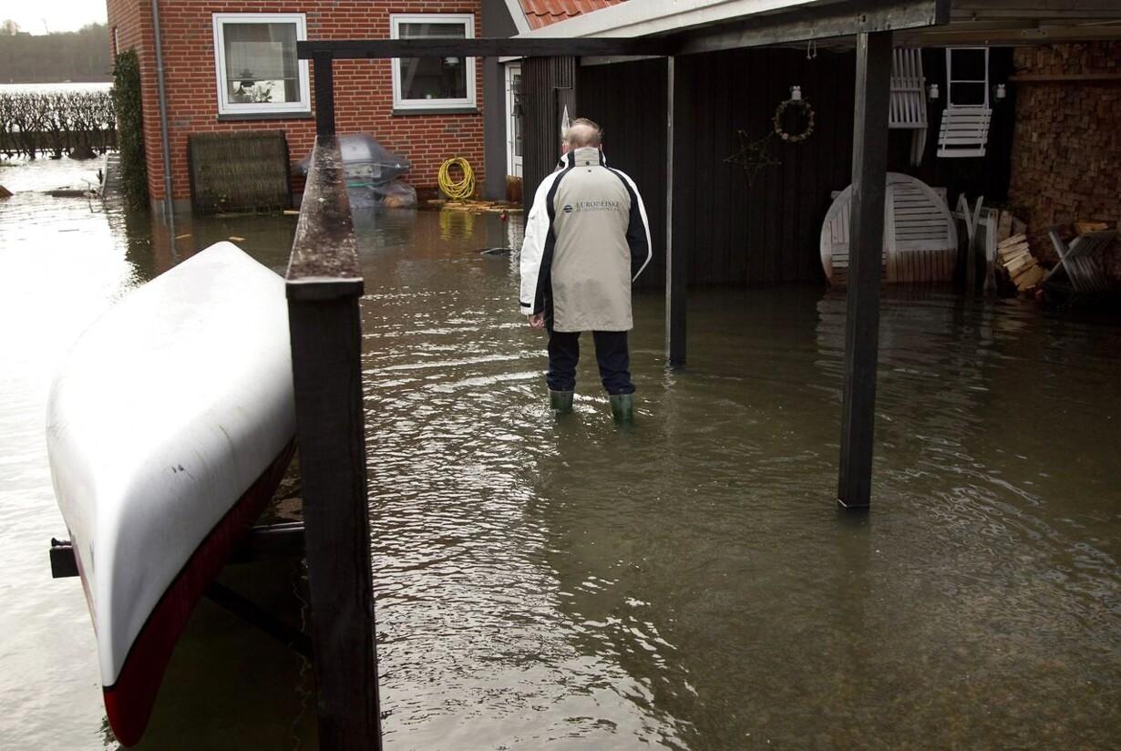 Nordjylland kan puste ud efter storm Oversvømmelse i Lemvig.