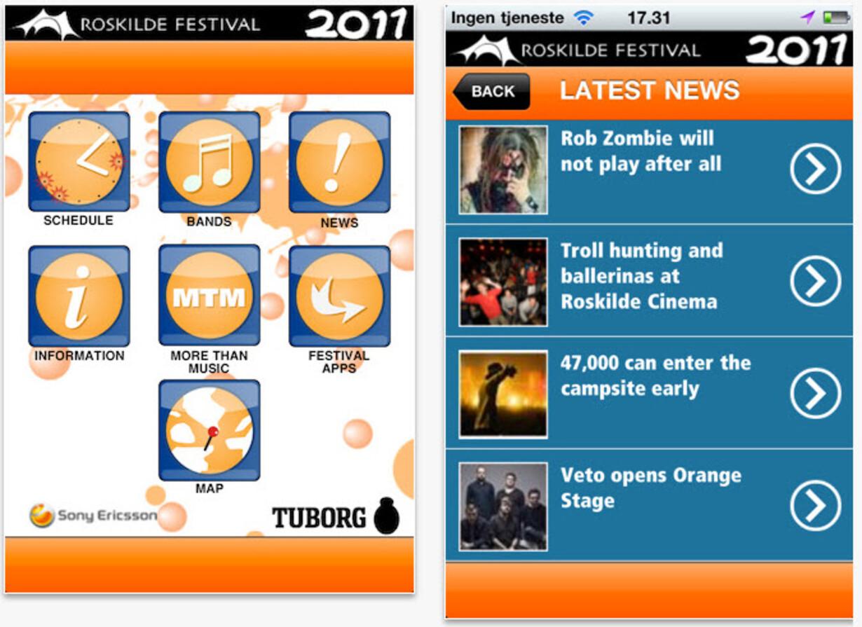 Officiel Roskilde Festival app