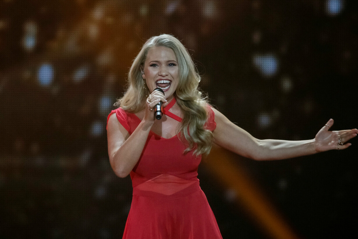 Denmark''s Anja performs with