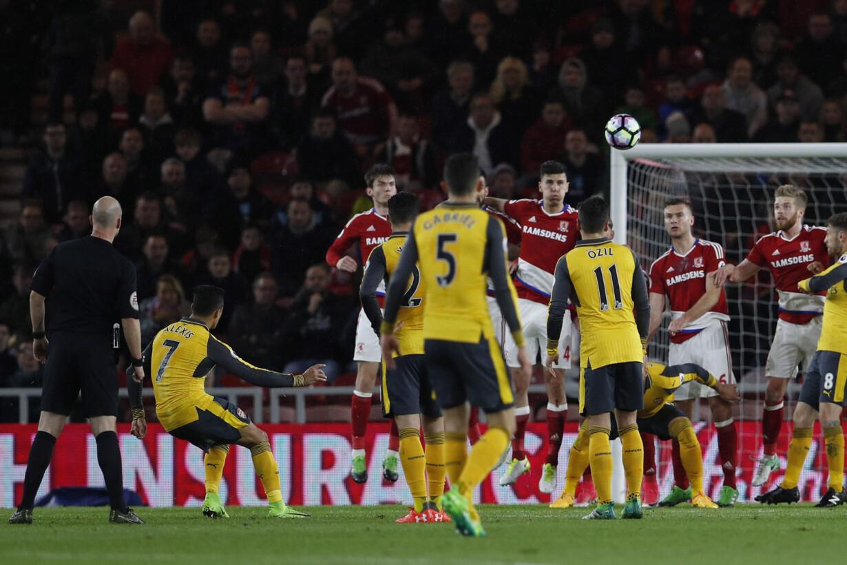 Arsenal''s Alexis Sanchez scor