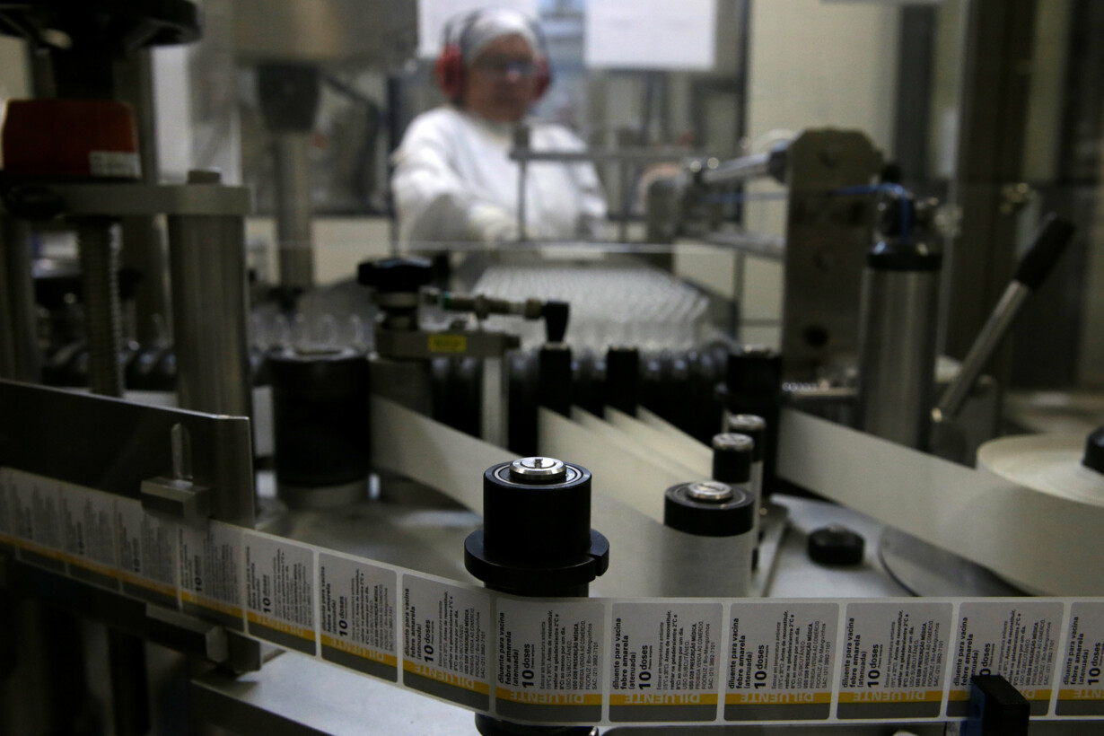 A woman works on the productio