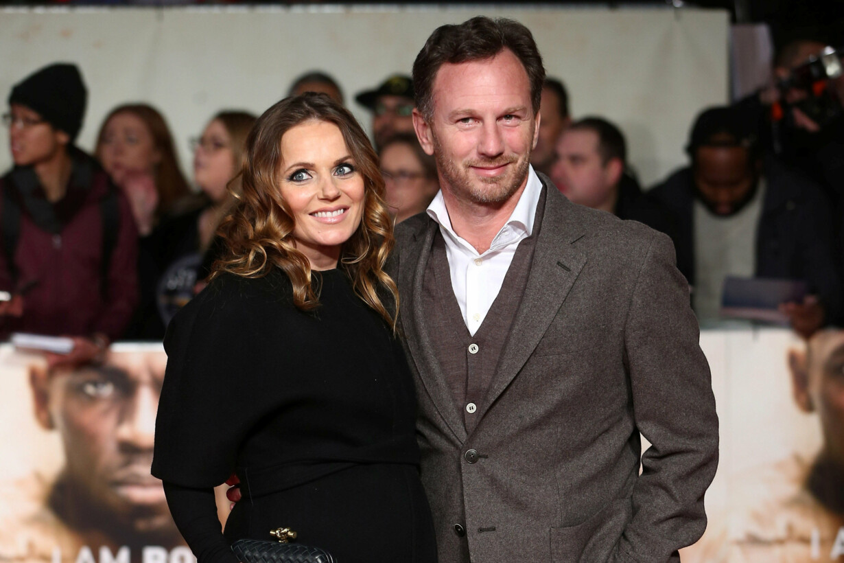 Singer Geri Halliwell (L) and