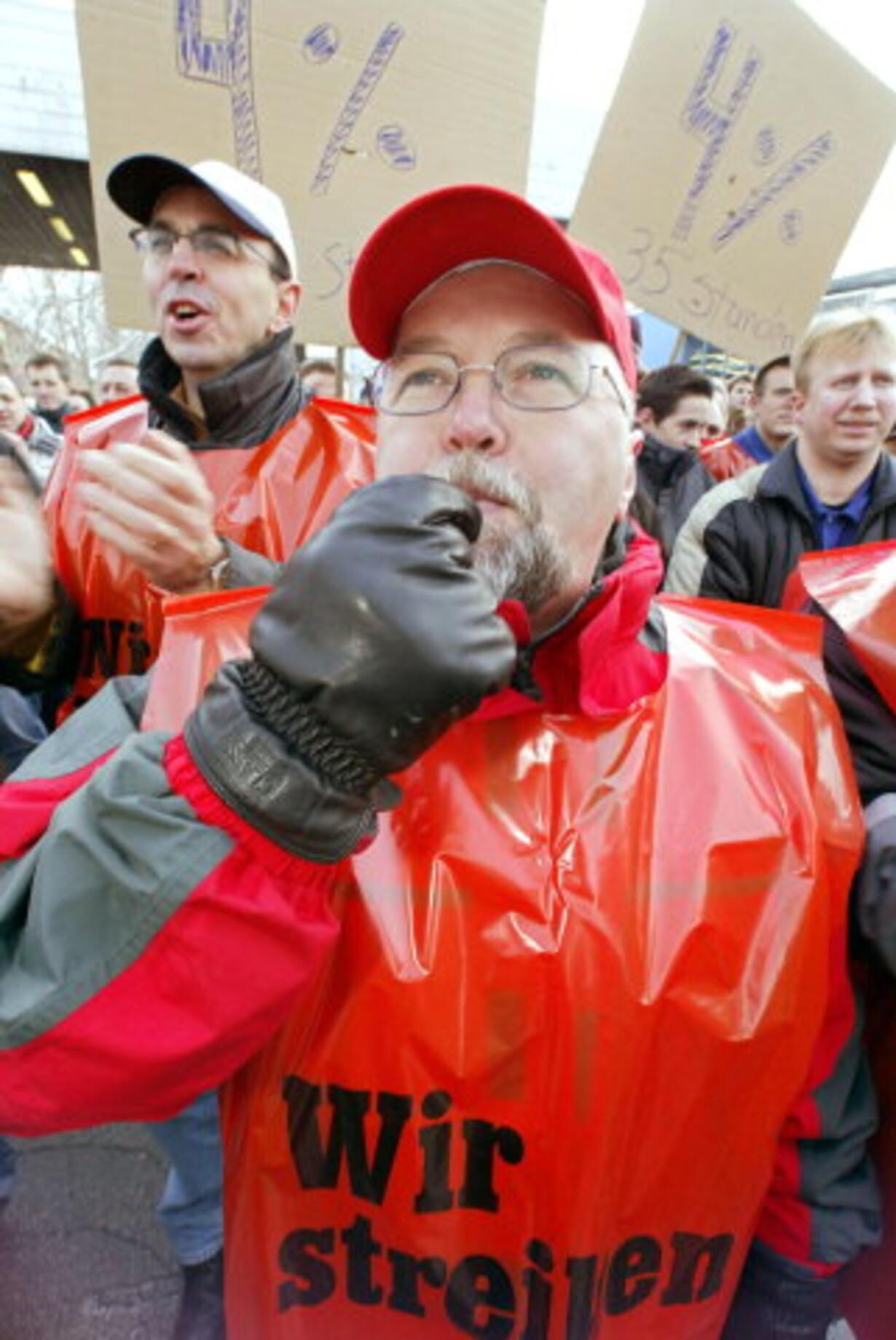 Tyske metalarbejdere varmer op til storstrejke - 1