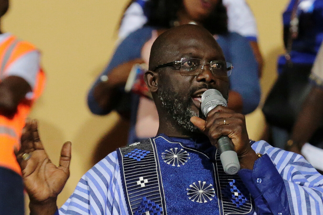 Weah, former soccer player and
