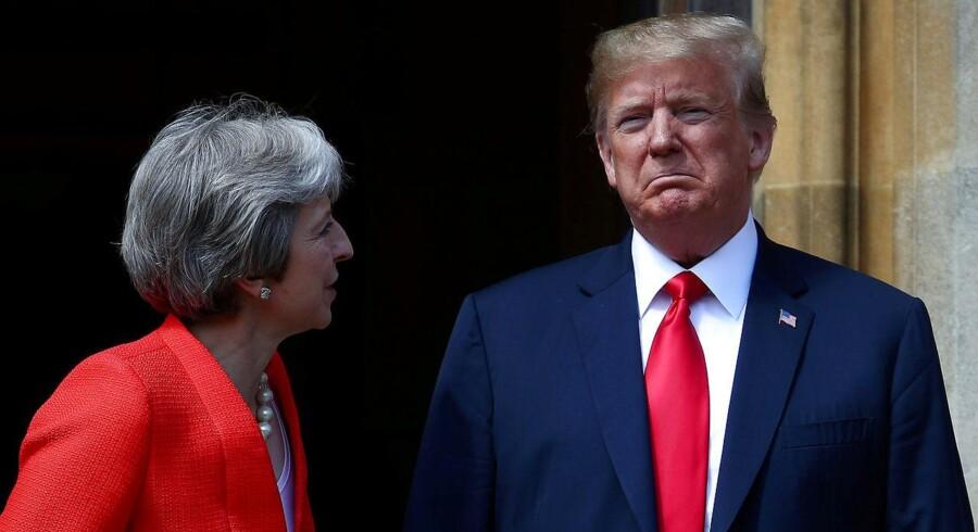 Efter Donald Trumps konfrontatoriske optræden under NATO-topmødet i Bruxelles, leverede han et højst usædvanligt angreb på Theresa Mays plan for den britiske EU-exit.