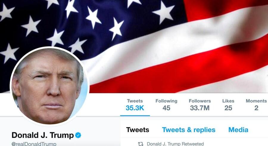 Arkivfoto: USA's præsident var en af de første til at benytte 280 tegn, da Twitter onsdag fordoblede længden på tweets.