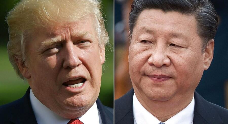 De amerikanske virksomheder er bekymret omkring konsekvenserne af den verserende toldstrid mellem Kina og USA, skriver Reuters./ AFP PHOTO / MANDEL NGAN AND NICOLAS ASFOURI