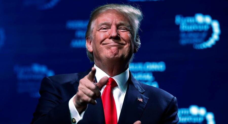 (ARKIV) U.S. President Donald Trump concludes his remarks at the American Farm Bureau Federation convention in Nashville, Tennessee, U.S. January 8, 2018. Tidligere statsminister Anders Fogh Rasmussen mener, at Trump har gjort det bedre, end de fleste kloge hoveder antyder. Trump-glad DF'er er enig med Fogh. Det skriver Ritzau, fredag den 19. januar 2018.. (Foto: JONATHAN ERNST/Scanpix 2018)