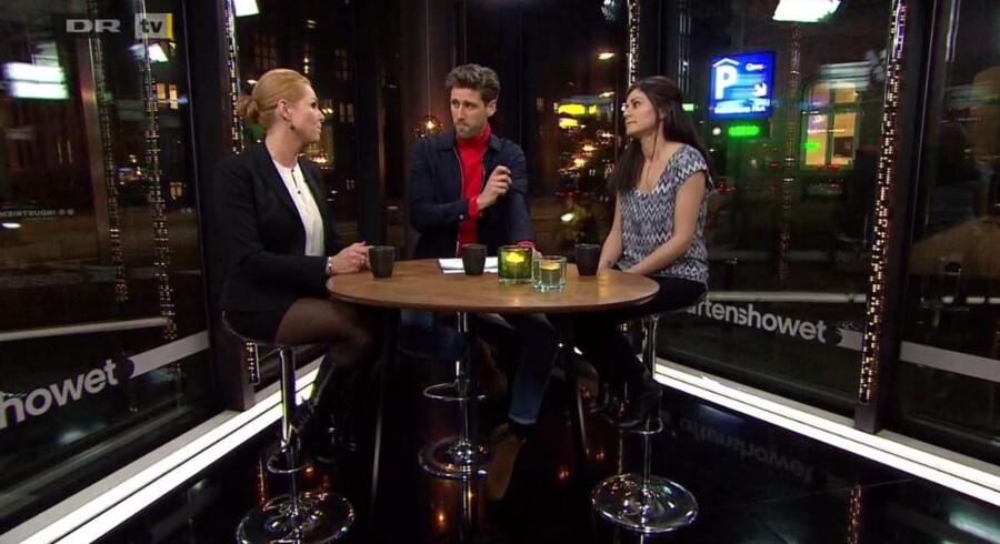 Screendump fra DRs Aftenshowet.