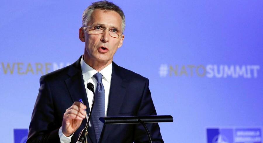 Generalsekretær Jens Stoltenberg under topmødet i Bruxelles.