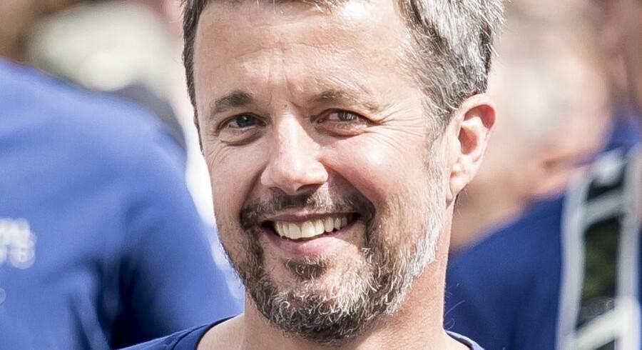 Her ses kronprins Frederik løbe Royal Run i Aarhus mandag den 21. maj. Mads Claus Rasmussen/Ritzau Scanpix